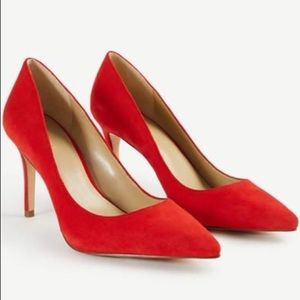 Ann Taylor Red Suede High Heels